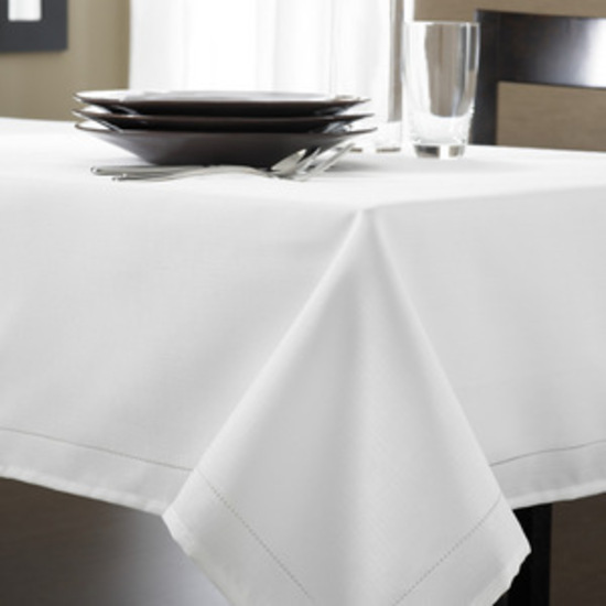french country new table cloth hemstitch tablecloth white bl