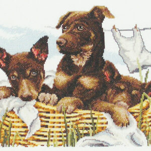 Country Threads Cross Stitch Kit - Wash Day Kelpies