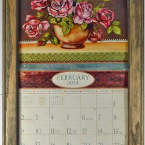 2017 lang legacy calendar frame wooden painted barnwood display your calender