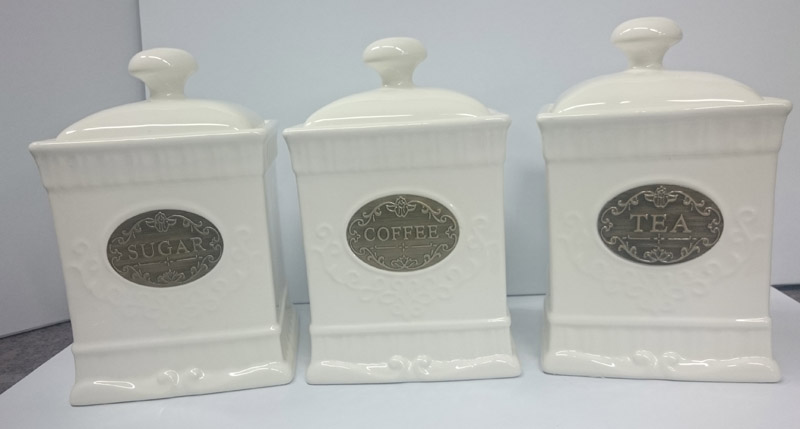 elegant kitchen canisters french country elegant kitchen canisters tea coffee sugar gold labels with ebay 3668