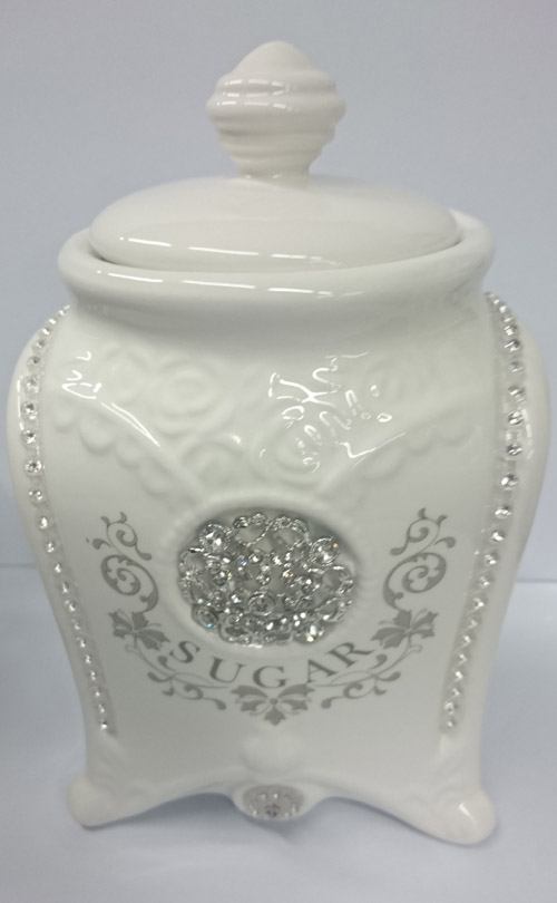 elegant kitchen canisters french country elegant kitchen canisters tea coffee sugar bling with seals ebay 6323