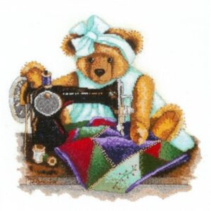 DMC Cross Stitch Kit PATCHWORK BEAR Counted X Stitch NEW incl Thread