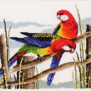 DMC Cross Stitch Kit EASTERN ROSELLAS Counted X Stitch NEW incl Thread
