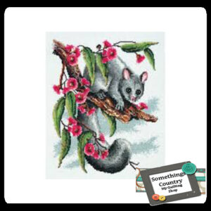 DMC Cross Stitch Kit POSSUM Counted X Stitch NEW incl Thread & Cloth
