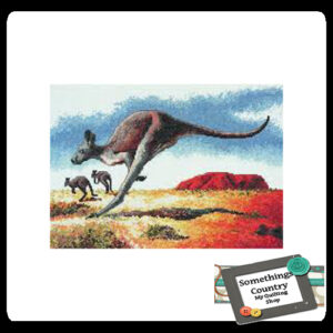 DMC Cross Stitch Kit KANGAROO Counted X Stitch NEW incl Thread & Cloth