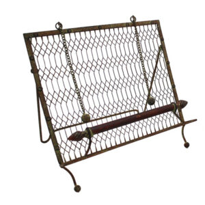 French Country Vintage Inspired Kitchen Recipe Book Holder Dark Bar Wrought Iron New