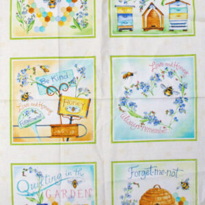 Quilting Patchwork Fabric Sewing Cotton QUILTING BEE FLORAL Panel 60x110cm New www.somethingscountry.com