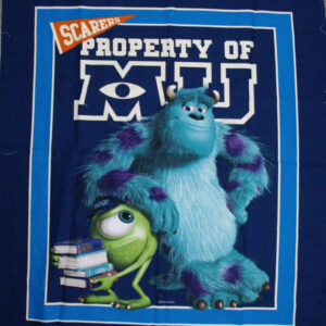 Quilting Patchwork Fabric Cotton MONSTERS UNIVERSITY Panel 90 x 110cm New www.somethingscountry.com