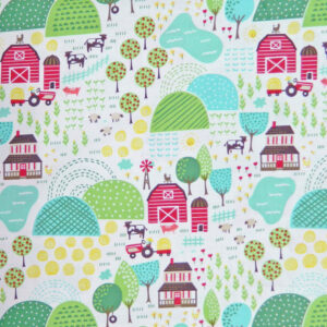 Quilting Patchwork Cotton Sewing Fabric McDONALDS FARM 50x55cm FQ NEW www.somethingscountry.com