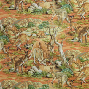 Quilting Patchwork Cotton Sewing Fabric AUSTRALIAN KANGAROOS 50x55cm FQ NEW www.somethingscountry.com