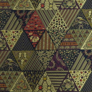Quilting Patchwork Cotton Sewing Fabric METALLIC BURG GOLD TRIANGLES 50x55cm FQ NEW www.somethingscountry.com