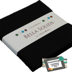 Moda Charm Pack BELLA BLACK Patchwork Quilt 5inch squares Country Fabric NEW