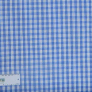 Quilting Patchwork Cotton Sewing Fabric GINGHAM CHECK BLUE 1/2 Meter NEW