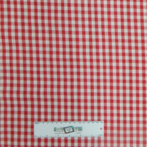 Quilting Patchwork Cotton Sewing Fabric GINGHAM CHECK RED 1/2 Meter NEW