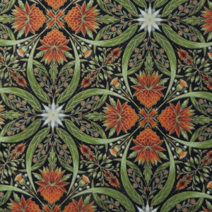 Quilting Patchwork Sewing Australian Gum Leaves Waratah 1 Metallic 50x55cmFQ NEW