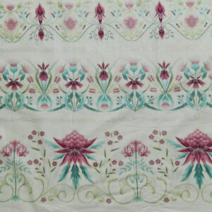 Quilting Patchwork Sew Australian Gum Leaves Warratah Cream Border 50x55cmFQ NEW