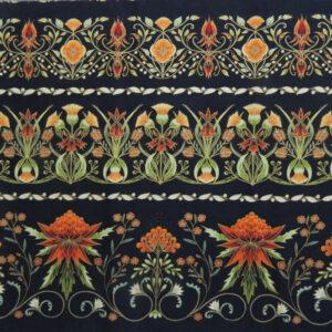 Quilting Patchwork Sew Australian Gum Leaves Warratah Black Border 50x55cmFQ NEW