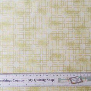 Quilting Patchwork Sewing CREAM METALLIC SQUARES TONAL 50x55cm FQ NEW