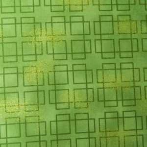 Quilting Patchwork Sewing GREEN METALLIC SQUARES TONAL 50x55cm FQ NEW