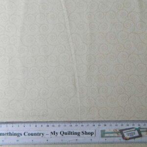 Quilting Patchwork Sewing Fabric CREAM SWIRLS TONAL 50x55cm FQ NEW