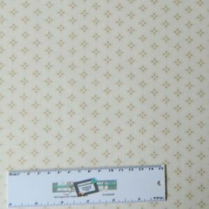 Quilting Patchwork Sewing Cotton Fabric PEMBERLEY CREAM 50x55cm FQ NEW