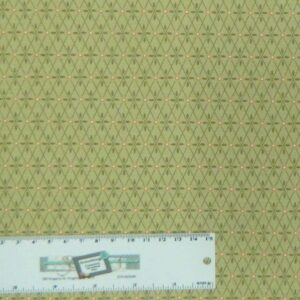 Quilting Patchwork Sewing Cotton Fabric LIZZY'S GARDEN GREEN 50x55cm FQ NEW