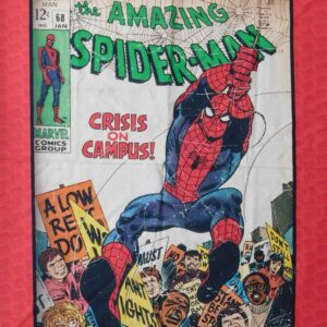 Patchwork Quilting Sewing Fabric MARVEL AVENGER SPIDERMAN Panel 90 x 110cm New Material