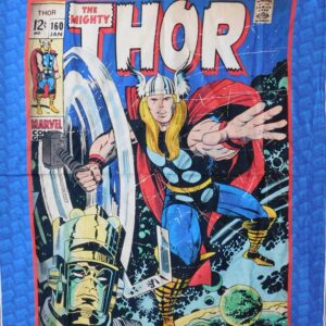 Patchwork Quilting Sewing Fabric MARVEL THOR Panel 90x110cm New Material