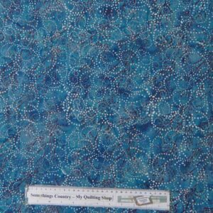 Quilting Patchwork Sewing Fabric Batik PEACOCK BLUE Cotton 50x55cm FQ NEW
