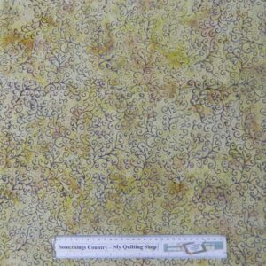 Quilting Patchwork Sewing Fabric Batik CREME DELIGHT Cotton 50x55cm FQ NEW