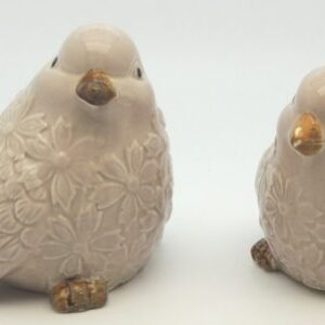 French Country Ornamental Set of 2 Birds MUSHROOM Collectable Gift Idea New