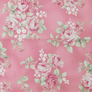 Patchwork Quilting Sewing Fabric WELCOME HOME PINK ROSES 50x55cm New