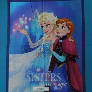 Patchwork Quilting Sewing Fabric FROZEN ELSA & ANNA Panel Cotton Material 90x110cm New
