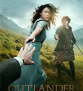 Patchwork Quilting Sewing Fabric OUTLANDER Claire & Jamie Fraser TV Panel 60x110cm New