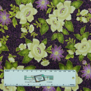 Quilting Patchwork Sewing Fabric PURPLE AND WHITE FLOWERS 50x55cm FQ New Material