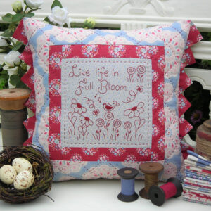 Quilting Sewing Cushion Pattern FULL BLOOM Sally Giblin Rivendale Collection NEW