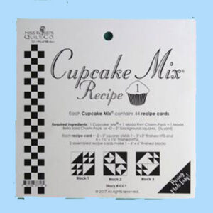 Quilting Sewing Quilt Pattern MODA CUPCAKE MIX 1 Preprinted Cheats for Patchwork NEW