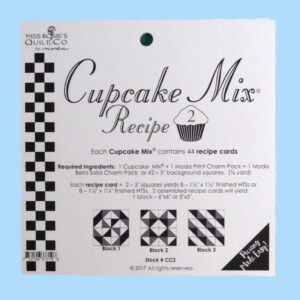 Quilting Sewing Quilt Pattern MODA CUPCAKE MIX 2 Preprinted Cheats for Patchwork NEW