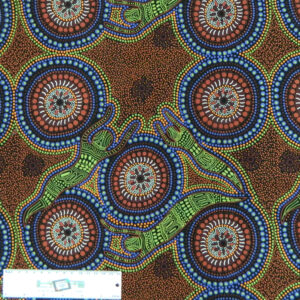 Patchwork Quilting Sewing Fabric ABORIGINAL WINTER SPIRITS Material Cotton 50x55cmFQ New