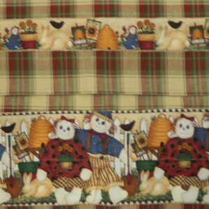 Country Style CHECKS New Tea Towels Set of 2 RAGGEDY ANNE Handmade Teatowels NEW