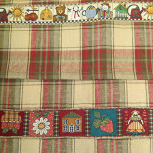 Country Style CHECKS New Tea Towels Set of 2 MIXED COUNTRY Handmade Teatowels NEW