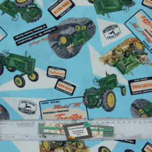 Patchwork Quilting Fabric JOHN DEERE TRACTOR QUALITY FARM Cotton FQ 50X55cm NEW