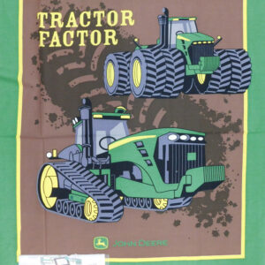 Patchwork Quilting Sewing Fabric JOHN DEERE TRACTOR FACTOR Panel 90x110cm New