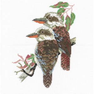 DMC Cross Stitch Counted X Stitch KIT KOOKABURRAS IN AN OLD GUM TREE New