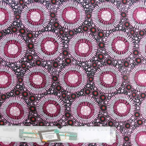 Patchwork Quilting Sewing Fabric ABORIGINAL WILD FLORAL PINK Material 50x55cmFQ New
