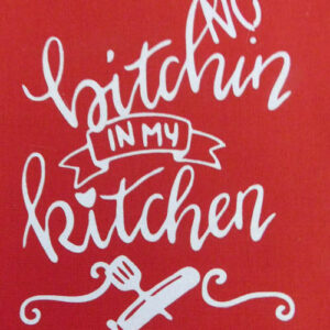 Set of 3 Modern Country New Tea Towels Kitchen Sayings RED Handmade Teatowels NEW