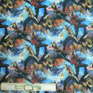 Patchwork Quilting Sewing Fabric GUARDIANS OF THE GALAXY Material 50x55cm FQ New