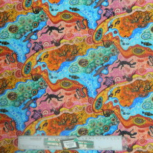 Patchwork Quilting Sewing Fabric ABORIGINAL DILKARA BRIGHT Material 50x55cm FQ New