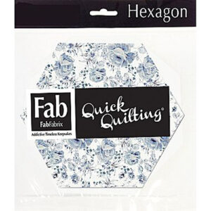 Quilting Fabric HEXIE Pack SHABBYLICIOUS Patchwork 5.25 Inch Hexagons New