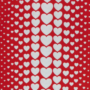 Patchwork Quilting Sewing Fabric RED HEARTS Material 50x55cm FQ Cotton DRILL New